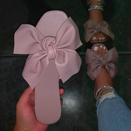 Flat With Flip Flop Bow Summer Slippers