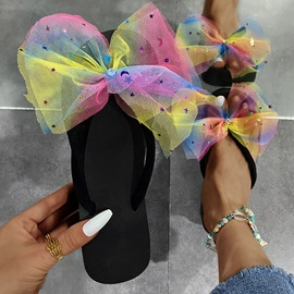 Platform Bow Thong Rubber Slippers