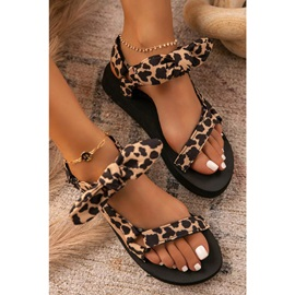Flat With Velcro Open Toe Thread Sandals