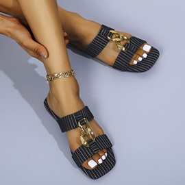 Slip-On 3D Flat With Western Slippers