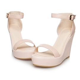 Fashion Line Style Ankle Strap Cover Heel Sandals