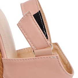 PU Cut-Out Buckles Wedge Sandals