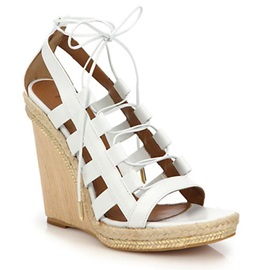 Solid Color PU Cut-Out Wedge Sandals