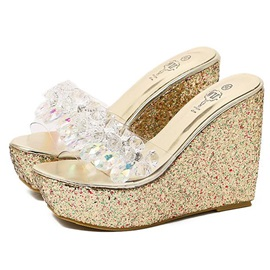Rhinestone Slip-On Multi Color Women