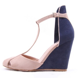 Faux Suede Hollow Closed Toe Women's Wedges