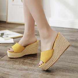Faux Suede Slip-On Wedge Women's Sandals