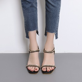 PU Buckle Wedge Heel Women's Sandals