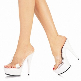 PVC Patchwork Stiletto Heel Sandals