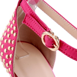Studded Pointed Toe Ankle Strap Sandals
