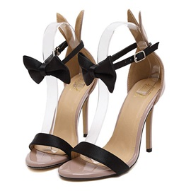 Bowtie Covering Heel Sandals