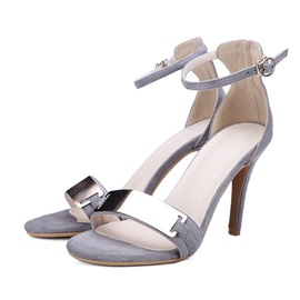 Metal Buckles Covering Heel Sandals