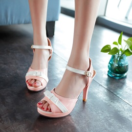 Sweet Peep-Toe Platform Sandals