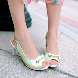 Sweet Bowtie Slingback Sandals