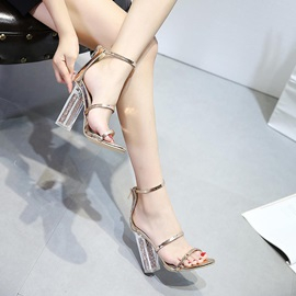 PU Zipper Heel Covering Women's Sandals