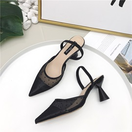 Mesh Slingback Strap Slip-On Women's Pumps