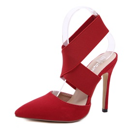 Strappy Pointed Toe Elastic Band Women's Sandals