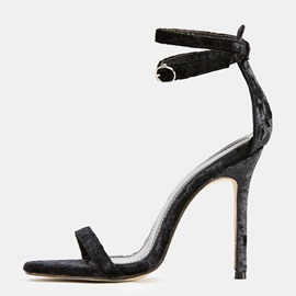 Plain Buckle Heel Covering Stiletto Heel Women's Sandals