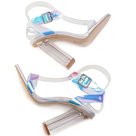 Line-Style Buckle Open Toe Ankle Strap Women's Sandals