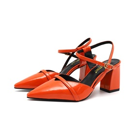 Ankle Strap Buckle Closed Toe Women's Sandals
