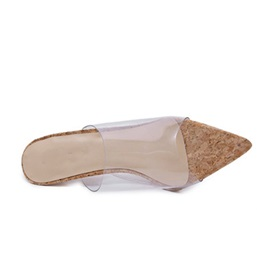 PVC Slip-On Stiletto Heel Women's Slippers