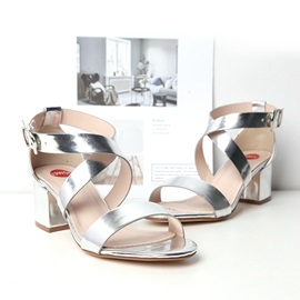 Chunky Heel Heel Covering Open Toe Women's Sandals