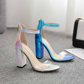 Open Toe Heel Covering Chunky Heel Casual Sandals