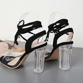 Chunky Heel Ankle Strap Open Toe Casual Sandals