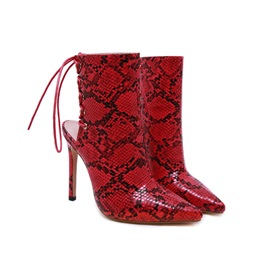 Stiletto Heel Pointed Toe Lace-Up Sexy Sandals Boots