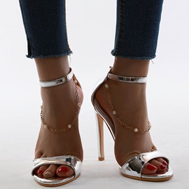 Open Toe Line-Style Buckle Heel Covering Casual Sandals
