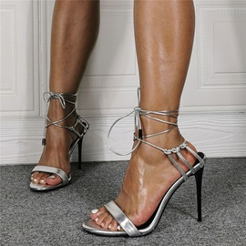 Pointed Toe Lace-Up Stiletto Heel OL Sandals