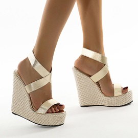 Strappy Open Toe Slip-On Simple Sandals