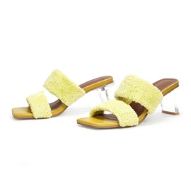 Flip Flop Chunky Heel Slip-On Plain Slippers