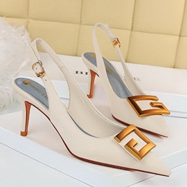 Pointed Toe Buckle Stiletto Heel Casual Sandals