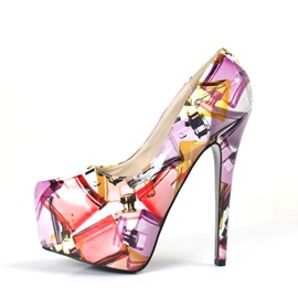 Trendy Printed Platform Stiletto Heel Pumps
