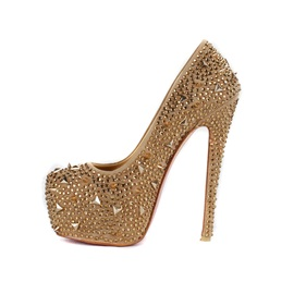 PU Shining Stiletto Closed-toe Prom Shoes