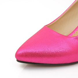Vintage Candy Color Point Toe Low Heel Pumps