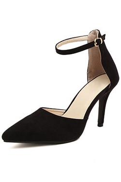 Colorblocking Strap Pointed Toe Pumps