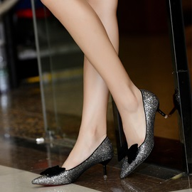Shining Sequins with Bowknot Pumps