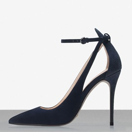 Pointed Toe Cut Out Stiletto Heel Pumps