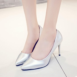 PU Pointed Toe Women's Classic Pumps