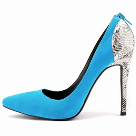 Snakeskin Back-Zip Stiletto Heel Classic Pumps