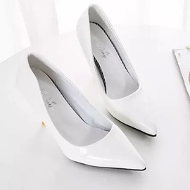 PU Slip-On Pointed Toe PU Classic Pumps