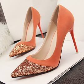 Sequins Pointed Toe Stiletto Heel Pumps