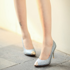 Sequins Pointed Toe Classic Pumps