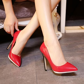 PU Pointed Toe Stiletto Heel Pumps