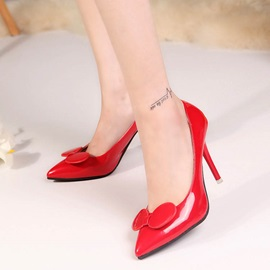 Bowknots Pointed Toe Stiletto Heel Pumps