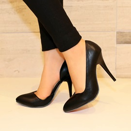 PU Round Toe Stiletto Heel Pumps