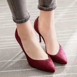 Solid Color PU Stiletto Heel Classic Pumps