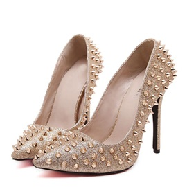 Gorgeous Rivets Stiletto Heel Pumps