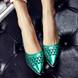 Metallic Pointed Toe Classic Pumps